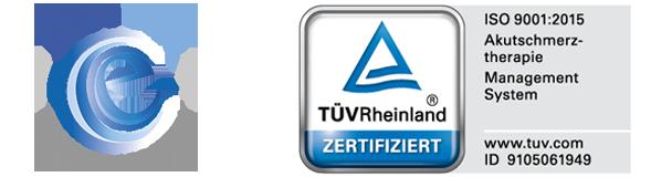 Logo der Zertifizierungen der Sophienklinik: endoCert und ISO9001:2015